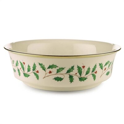 "Lenox Holiday 9.25"" Serving Bowl"