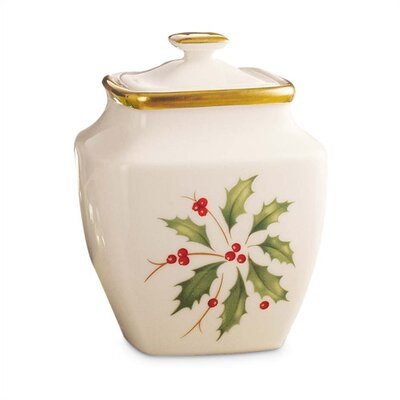 Lenox Holiday Sugar Bowl with Lid