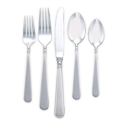 Lenox Pearl Platinum 5 Piece Flatware Set