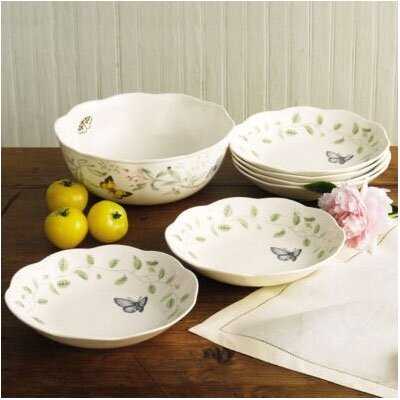 Butterfly Meadow 7 Piece Pasta / Salad Set