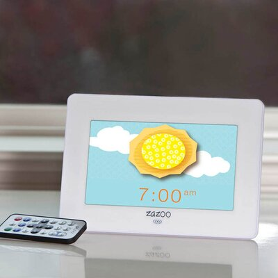 Zazoo Kids Photo Clock in White