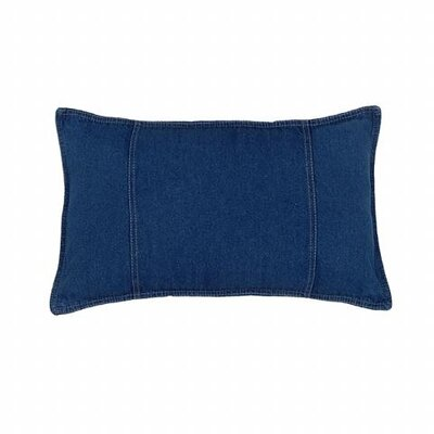Karin Maki American Denim Cotton Oblong Pillow