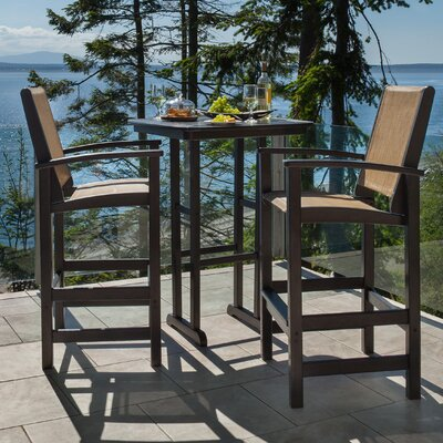 POLYWOOD® Coastal 3 Piece Bar Dining Set