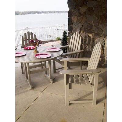 POLYWOOD® Casual Adirondack 5 Piece Dining Set
