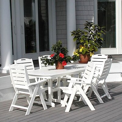 POLYWOOD® Nautical 7 Piece Dining Set