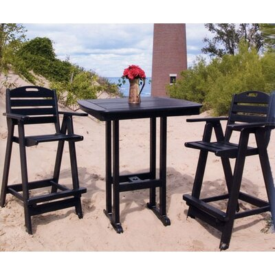 POLYWOOD® Nautical 3 Piece Bar Height Dining Set