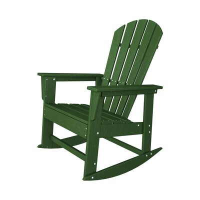 POLYWOOD® South Beach Shell Back Rocking Chair