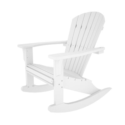 POLYWOOD® Seashell Adirondack Rocking Chair