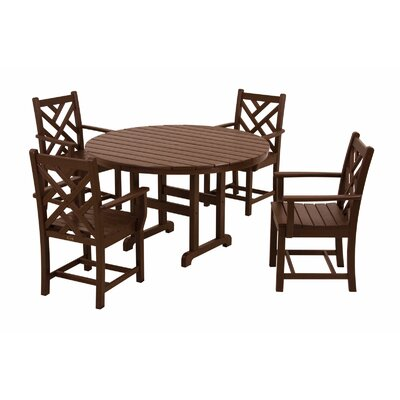 POLYWOOD® Chippendale 5 Piece Dining Set