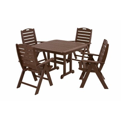 POLYWOOD® Nautical 5 Piece Dining Set