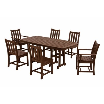 POLYWOOD® Traditional Garden 7 Piece Dining Set