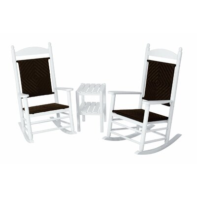 POLYWOOD® Jefferson 3 Piece Woven Rocker Set