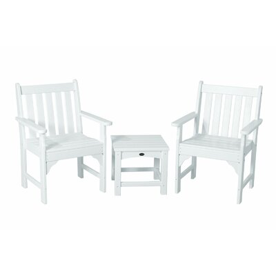 POLYWOOD® Vineyard 3 Piece Garden Chair Set