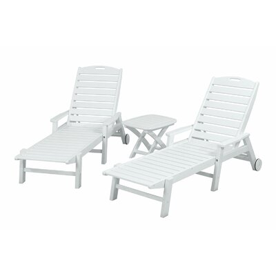 POLYWOOD® Nautical 3 Piece Chaise Set