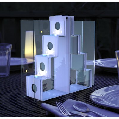 Decorpro Domino Steel Tealight Candle Holder