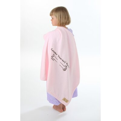 Marshmallow Plush Blanket in Bubble Gum Pink with Chocolate Hug