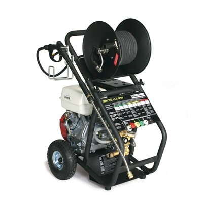 KG Series 4.0 GPM Honda GX390 Cold Water Pressure Washer with Hose Reel