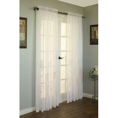 Commonwealth Home Fashions  Rod Pocket Hydrangea Top Curtain Single Panel