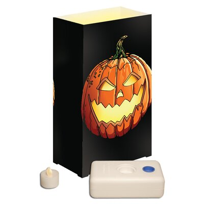 Luminarias 12 Count Battery Operated Luminary Kit with Jack O'Lantern Design