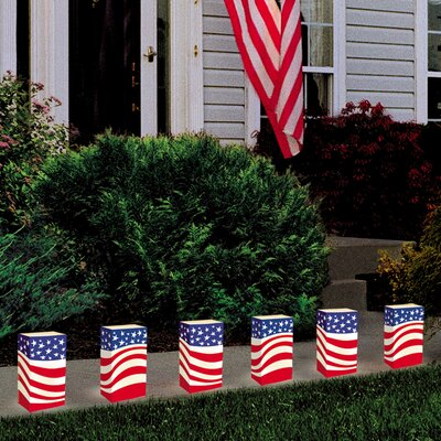 Luminarias Americana Candle Luminaria Kit (Set of 12)