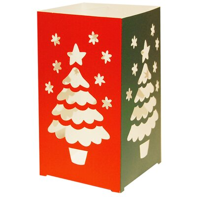 Luminarias Christmas Tree Tabletop Lanterns (Set of 12)