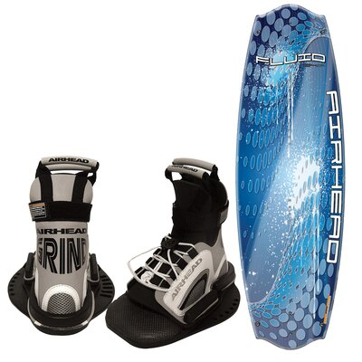 Airhead Fluid 134cm Wakeboard with Grind Bindings