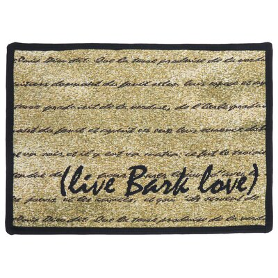 Park B Smith Ltd PB Paws & Co. Gold / Black Live Bark Love Tapestry Rug