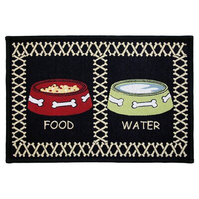 <strong>Park B Smith Ltd</strong> PB Paws & Co. Multi / Black Meal Time Tapestry Rug