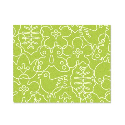 notNeutral Season Lotus Green/White Kids Rug