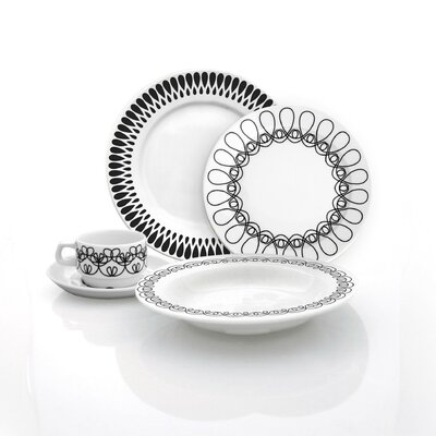 notNeutral Black Ribbon Dinnerware Collection
