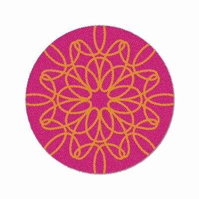 notNeutral Just for Kids Orange/Pink Ribbon Kids Rug