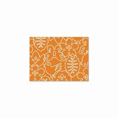 notNeutral Season Persimmon Orange/White Kids Rug