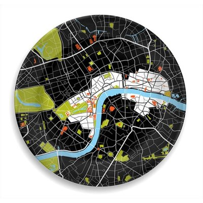 "notNeutral City on a Plate 12"" London Dinner Plate"