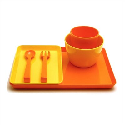 notNeutral Melamine Snack Set in Yellow/Orange