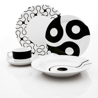 notNeutral Links 20 Piece Dinnerware Set