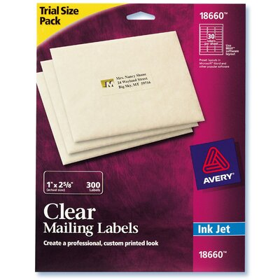 Avery 300 Count Clear Mailing Label