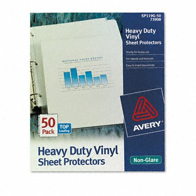 Avery Top-Load Sheet Protectors, Heavy Gauge, Letter, Non-Glare, 50/Box