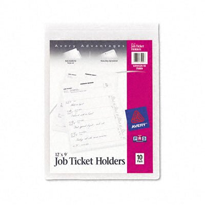 Avery Job Ticket Holders, 10/Pack