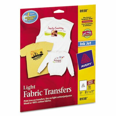 Avery Personal Creations Inkjet T-Shirt Transfer, 18/Pack