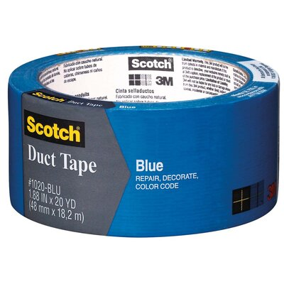 "Bussman 1.88"" x 20 Yards Blue Duct Tape 1020-BLU-A"