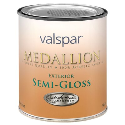 Valspar 1 Quart White Medallion Exterior Latex House & Trim Paint Semi Gloss