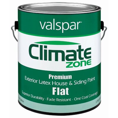 Valspar 1 Gallon Flat Clear Base Climate Zone Exterior Latex House Paint