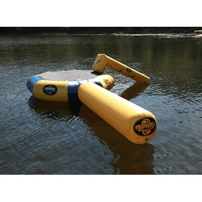 Rave Sports Bongo Water Bounce Platform -10' with Slide and Log