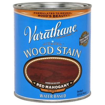 Varathane 1 Quart Red Mahogany Water Based Premium Stain Wood