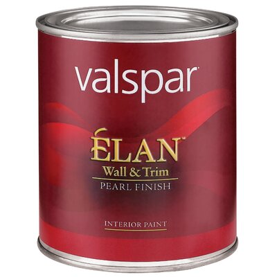 Valspar 1 Quart Clear Base Élan™ Wall & Trim Pearl Finish Interior Acrylic Paint