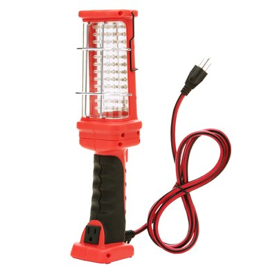 72 LED Hand Held Work Light with Grounded Outlet