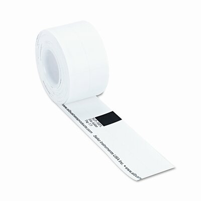 Seiko Label Printer Hanging File Folder Labels, 1/3 Cut, 1-1/4 x 3-1/2, White, 130/Box