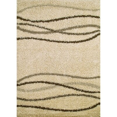 Shaggy Waves Natural Shag Rug