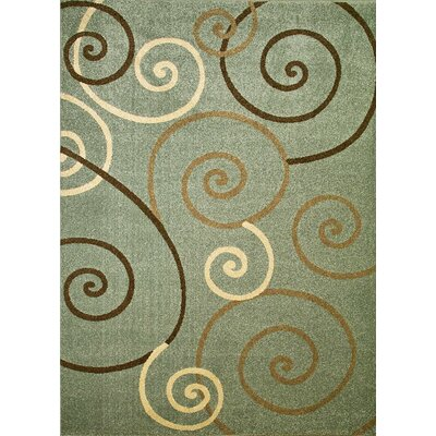 Concord Global Imports Arthur Scroll Blue Rug