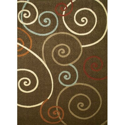 Concord Global Imports Arthur Scroll Brown Rug